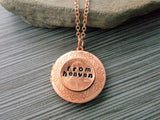 Handmade Rose Gold Pennies From Heaven Locket Necklace