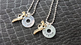 Handmade Hand-Stamped Thelma And Louise Necklace Set Best Friends Jewelry