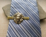 Handmade Oxidized Brass Steampunk Lion Tie Clip Tie Bar