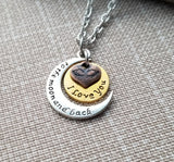 Handmade I Love You To The Moon And Back Necklace Valentines Anniversary Gift