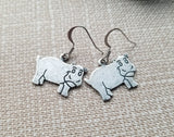 Handmade HIppo Hippopotamus Earrings