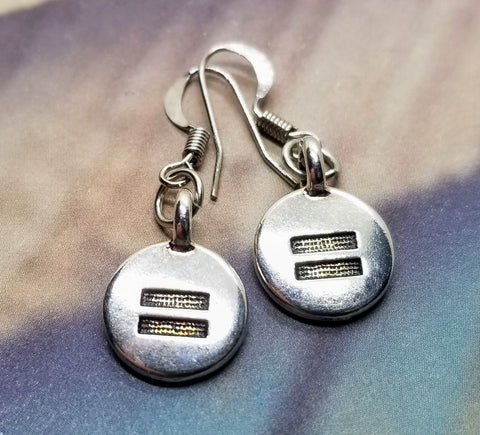 Handmade Silver Equal Human Rights Earrings