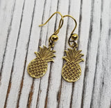 Handmade Golden Pineapple Earrings