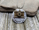 Handmade Hand Stamped Capture Life Photographer Necklace