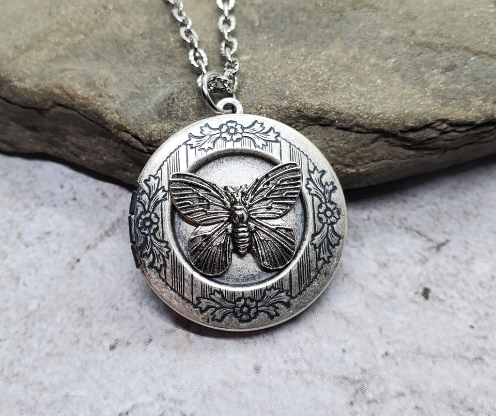Handmade Butterfly Locket Necklace