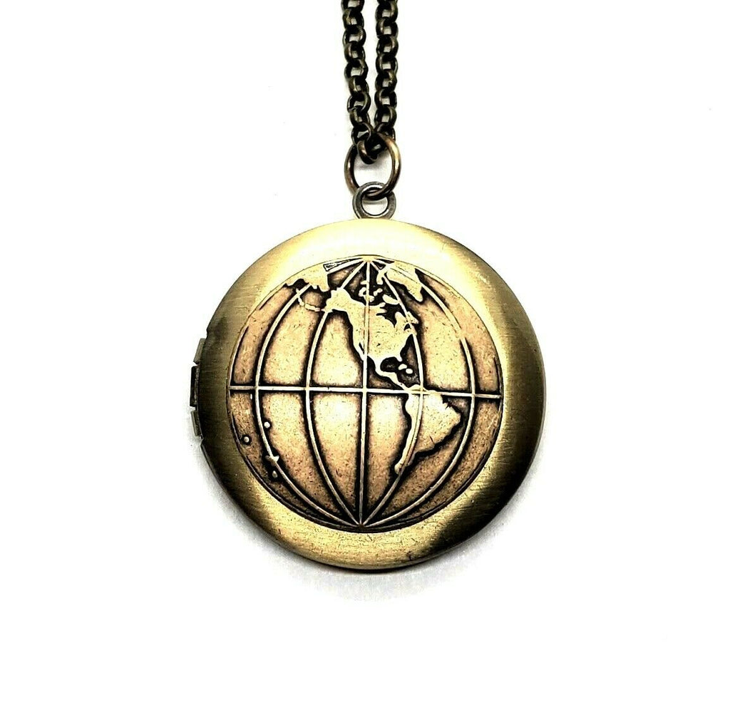 Handmade Globe Locket Necklace