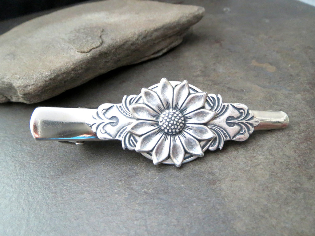 Handmade Sunflower Hair Clip Barrette