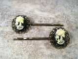 Handmade Lolita Day Of The Dead Hair Bobby Pins