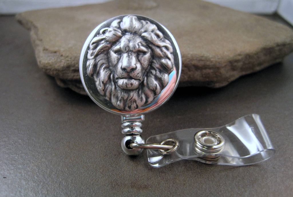 Handmade Lion Badge Holder