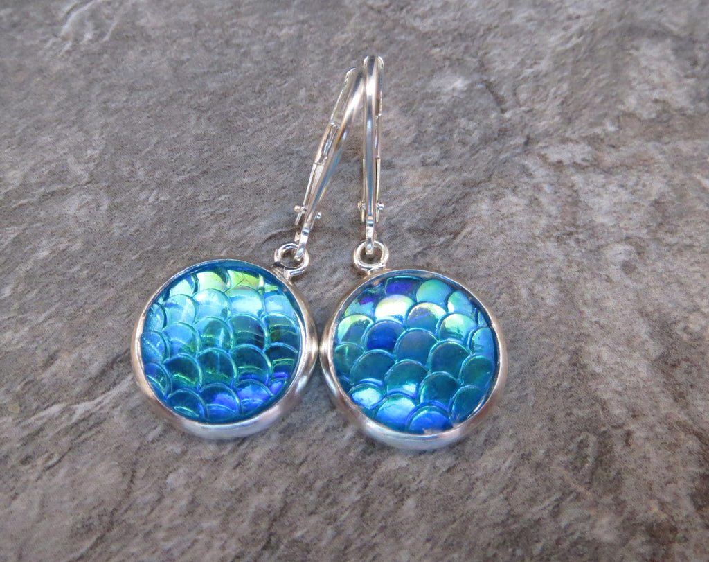 Handmade Mermaid Scale - Dragon Egg Earrings
