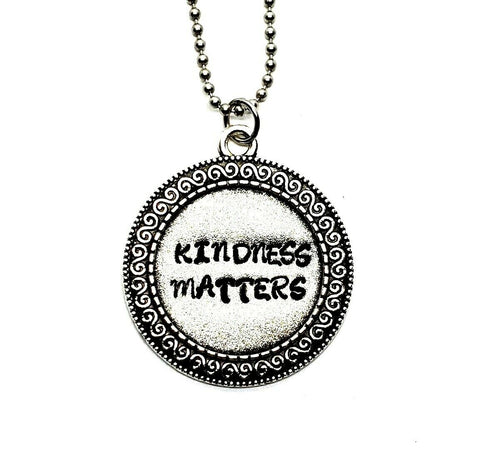 Handmade Hand Stamped Kindness Matters Necklace