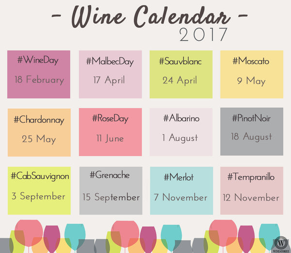 Winestoree Wine Calendar 2017