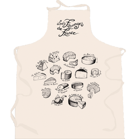 Large Beige Apron Fromages de France