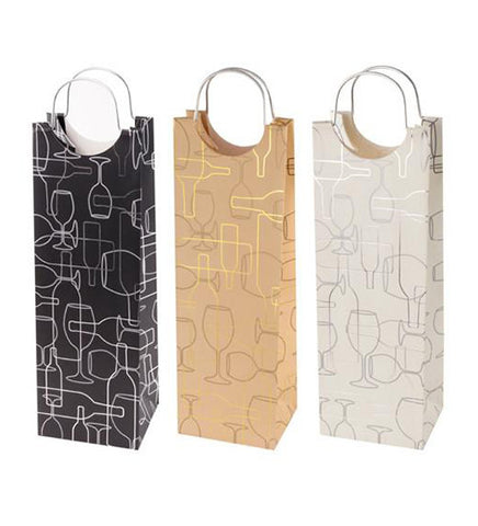 Marketplace: Assorted Ritzy Stripes Wine Bags