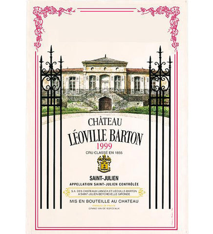 Bordeaux Château Léoville Barton  Saint-Julien 1999 Kitchen Towel