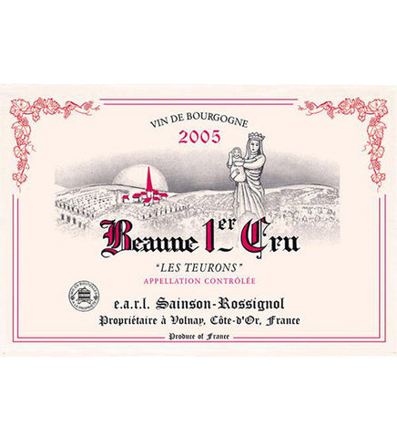 Burgundy - Beaune 1er Cru Les Teurons Kitchen Towel