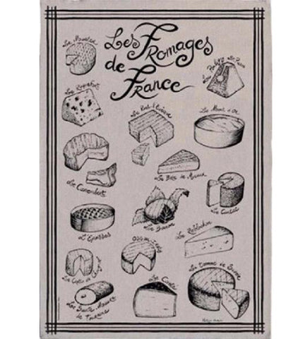 Cheeses from France 100% linen kichten towel