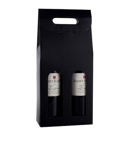 Marketplace: Black 2-Bottle Carrier