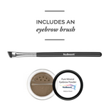 Mineral Eyebrow Powder & Angled Brush Medium Brown