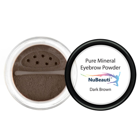 Mineral Eyebrow Powder & Angled Brush Dark Brown