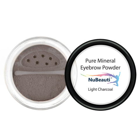 Mineral Eyebrow Powder & Angled Brush Light Charcoal
