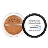 Mineral Eyebrow Powder & Angled Brush Medium Auburn
