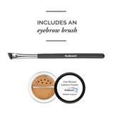 Mineral Eyebrow Powder & Angled Brush Reddish Auburn