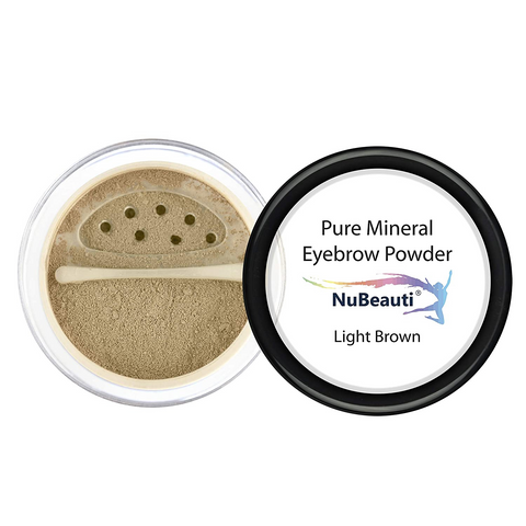 Mineral Eyebrow Powder & Angled Brush Light Brown