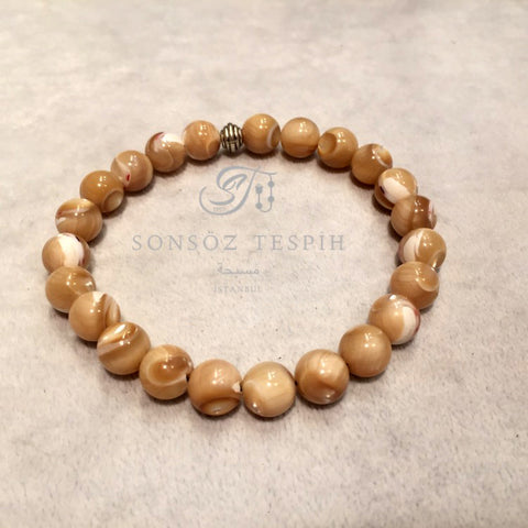 Mens Bracelet With Shell Stone