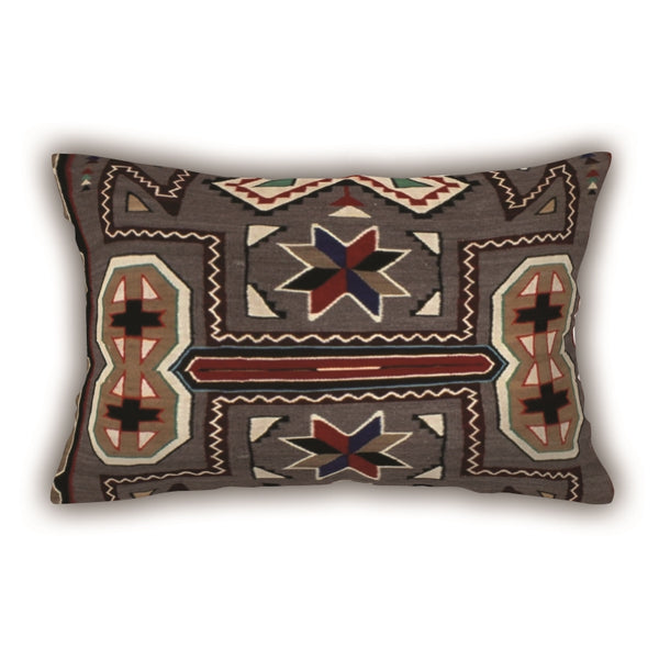 Brown Patterned Digital Printed Rectangle Pillow