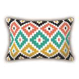 Colorful Patterned Digital Printed Rectangle Pillow