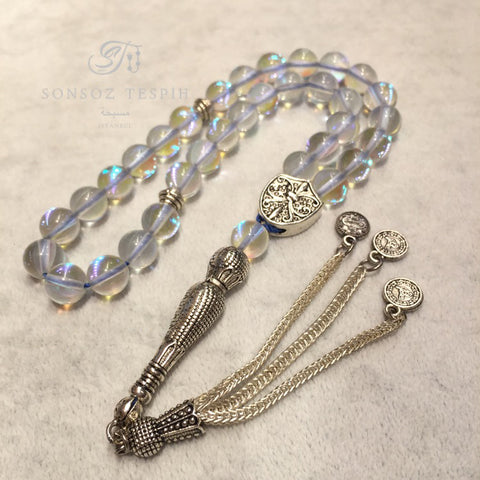 Transparent Quartz Stone Rosary