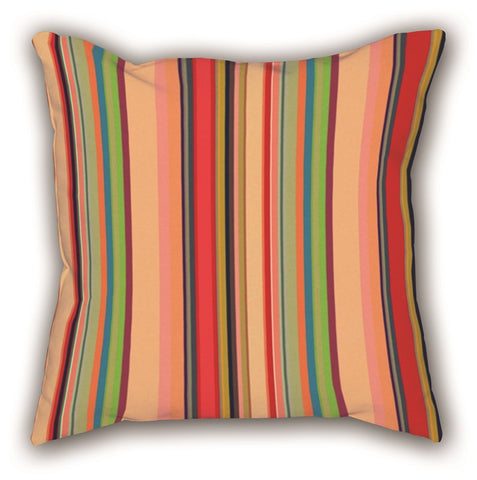 Colorful Line Patterned Digital Printed Square Pillow