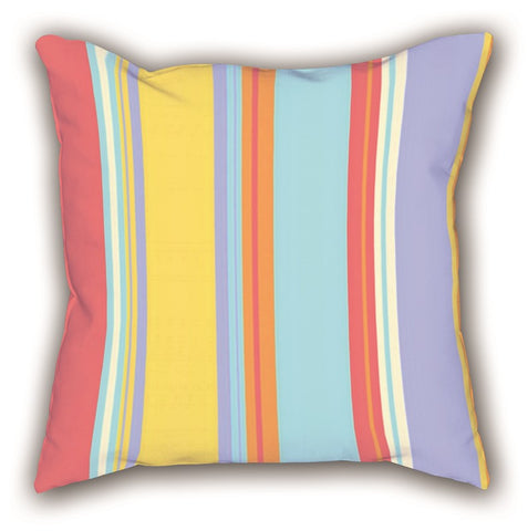 Colorful Striped Digital Printed Square Pillow