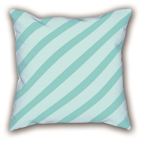 Blue Striped Digital Printed Square Pillow