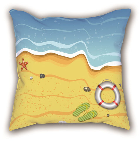 Colorful Beach Themed Digital Printed Child Pillow