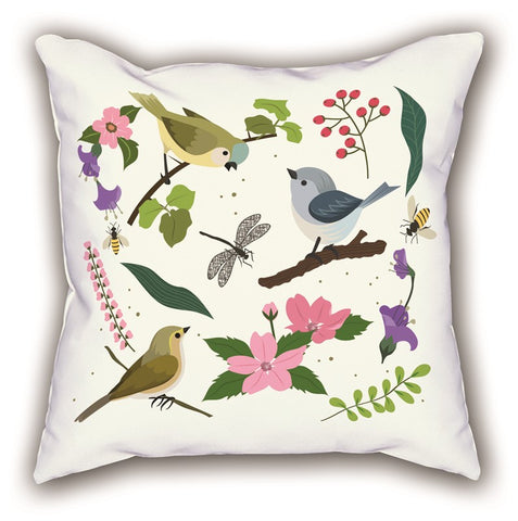 White Bird Themed Digital Printed Child Pillow