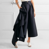 High Waist  Wide Leg Trousers SHOPZIY
