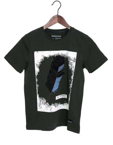 Crew Neck Printed T Shirt