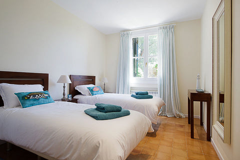 Villa Valldemossa Blue Twin Bedroom
