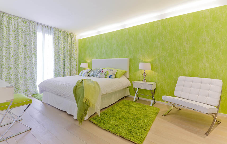 Green Bedroom in Son Vida