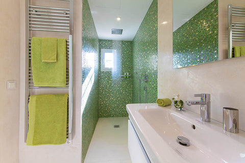 Green Bathroom Villa Bendinat