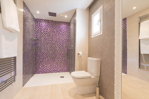 Purple Bathroom Villa Bendinat 1
