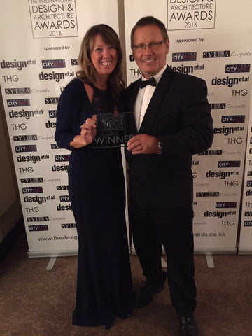 Bruce and Justine with Award