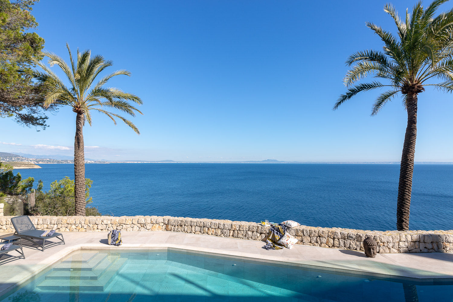 View of the Sea from a pool terrace