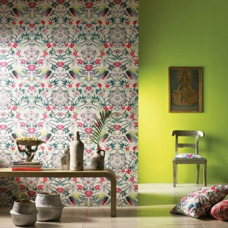 Durbar Menagerie Wallpaper with Green