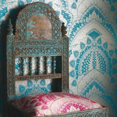 Durbar Azari Wallpaper with Chair