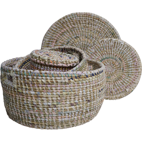 EA Deco Afripe Flat Baskets