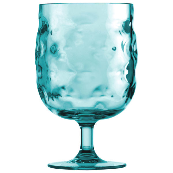 Glass Wine Moon Acqua Turquoise Set 6