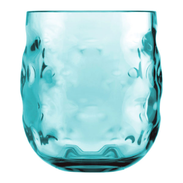 Glass Water Moon Acqua Turquoise Set 6